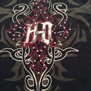Harley Davidson Women's Henley Hoodie M